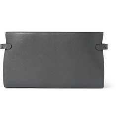 Valextra - Pebble-Grain Leather Pouch