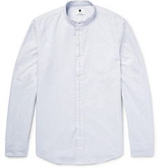NN07 Samuel Slim-Fit Grandad-Collar Cotton Oxford Shirt