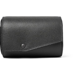 Valextra Pebble-Grain Leather Watch Roll