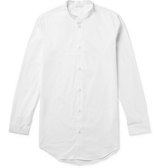 COS Grandad-Collar Cotton-Poplin Shirt