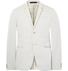 COS Grey Slim-Fit Padded Peached-Shell Blazer
