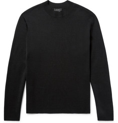 COS Textured-Wool Mock Neck Sweater