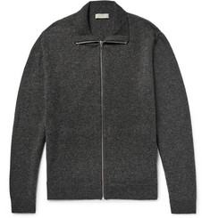 COS Mélange Wool Zip-Up Cardigan