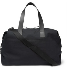COS Leather-Trimmed Canvas Holdall