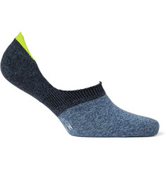 Mr. Gray Two-Tone Stretch-Knit No-Show Socks