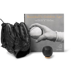 Shinola - Baseball's Golden Age Hardcover Book, Nokona Mitt and Ball Set