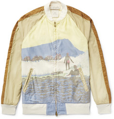 Remi Relief Printed Cotton Bomber Jacket