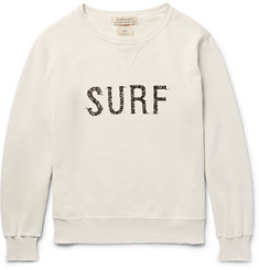 Remi Relief Printed Distressed  Loopback Cotton-Jersey Sweatshirt