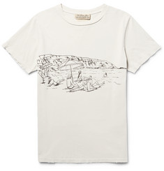 Remi Relief Printed Distressed Cotton-Jersey T-Shirt