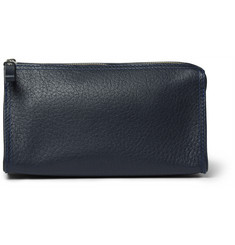 D R Harris - Grained-Leather Wash Bag