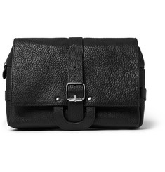 D R Harris Full-Grain Leather Hanging Wash Bag
