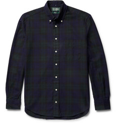 Gitman Vintage Button-Down Collar Black Watch Checked Cotton Oxford Shirt