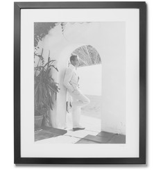 "Sonic Editions - Framed Bogart In White Print, 16"" x 20"""