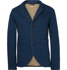 KAPITAL Blue Loopback Cotton-Jersey Blazer