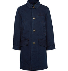 KAPITAL Indigo-Dyed Denim Chesterfield Coat