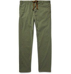 Remi Relief Slim-Fit Drawstring Washed-Twill Trousers