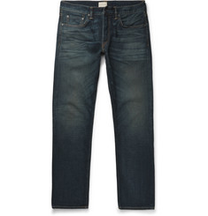 Simon Miller M001 Slim-Fit Distressed Selvedge Denim Jeans