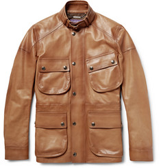 Ralph Lauren Purple Label Thornhill Burnished-Leather Field Jacket