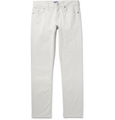 Ralph Lauren Purple Label Slim-Fit Brushed Stretch-Cotton Twill Trousers