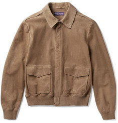 Ralph Lauren Purple Label Henfield Suede Aviator Jacket