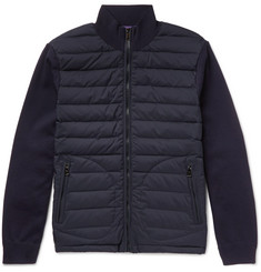 Ralph Lauren Purple Label Quilted Shell And Wool-Blend Jacket