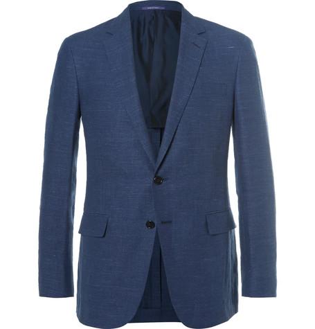 Blue Nigel Slim-Fit Linen and Wool-Blend Hopsack Blazer