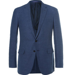 Ralph Lauren Purple Label - Blue Nigel Slim-Fit Linen and Wool-Blend Hopsack Blazer