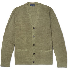 Polo Ralph Lauren Waffle-Knit Linen and Silk-Blend Cardigan