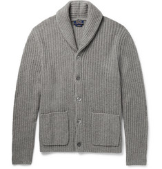 Polo Ralph Lauren Shawl-Collar Ribbed Cashmere Cardigan