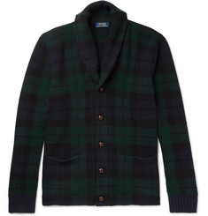 Polo Ralph Lauren Blackwatch checked Shawl-Collar Wool Cardigan