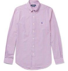 Polo Ralph Lauren Slim-Fit Button-Down Collar Checked Cotton-Poplin Shirt