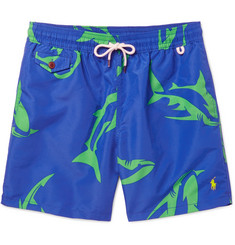 Polo Ralph Lauren Traveler Mid-Length Shark-Print Swim Shorts