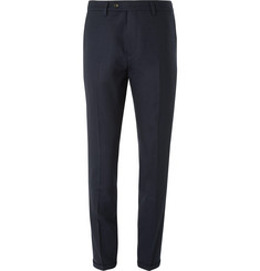 NN07 Blue Soho Slim-Fit Stretch-Wool Twill Suit Trousers