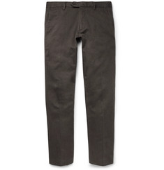 NN07 Theo Slim-Fit Mélange Stretch Cotton-Blend Twill Chinos