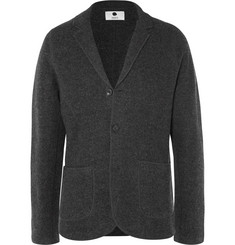 NN07 Grey Wallace Slim-Fit Unstructured Boiled Wool Blazer