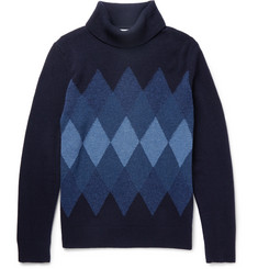 NN07 Argyle Wool-Blend Rollneck Sweater