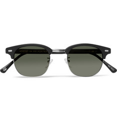 Moscot Yukel Square-Frame Acetate and Silver-Tone Sunglasses
