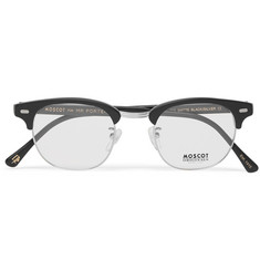 Moscot Yukel Square-Frame Acetate and Silver-Tone Optical Glasses