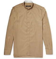 Freemans Sporting Club Grandad-Collar Linen Shirt