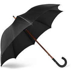 Francesco Maglia Lord Woven Leather-Handle Umbrella