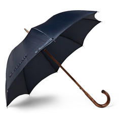 Francesco Maglia Lord Chestnut Wood-Handle Twill Umbrella
