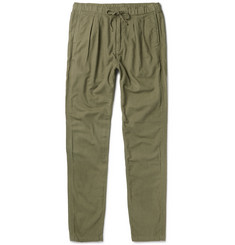 nonnative Farmer Slim-Fit Tapered Brushed Cotton and Wool-Blend Trousers