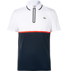 Lacoste Tennis Slim-Fit Jersey And Piqué Polo Shirt