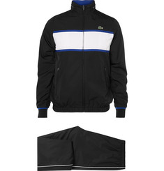 Lacoste Tennis Stripe Shell Hooded Tracksuit