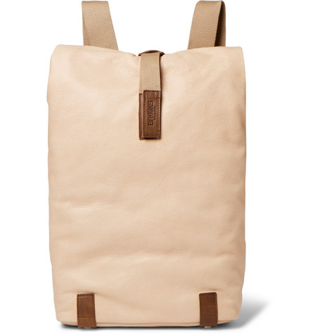 Brooks England - Pickwick Small Washed-Leather Backpack - Sand