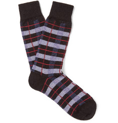 Anonymous Ism - Checked Wool-Blend Socks