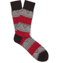 Anonymous Ism - Jacquard-Knit Socks