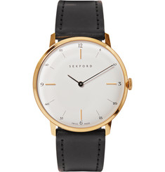 Sekford - Type 1A Gold-Tone and Cordovan Leather Watch