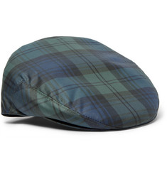 Lock & Co Hatters Water-Repellent Black Watch Checked Twill Flat Cap