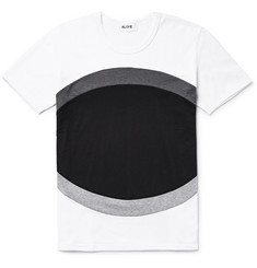 Aloye - Panelled Colour-Block Cotton-Jersey T-Shirt
